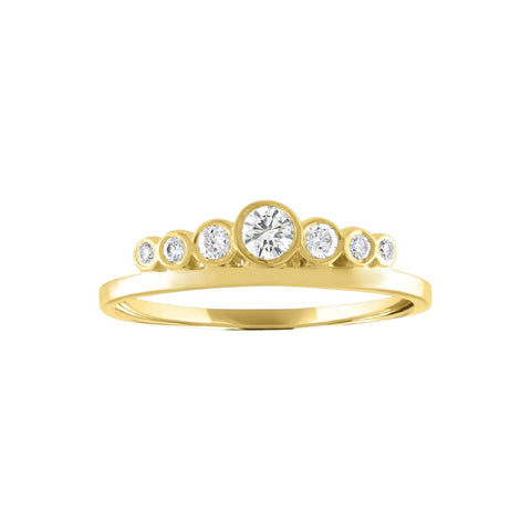 Round Bezel Crown Ring