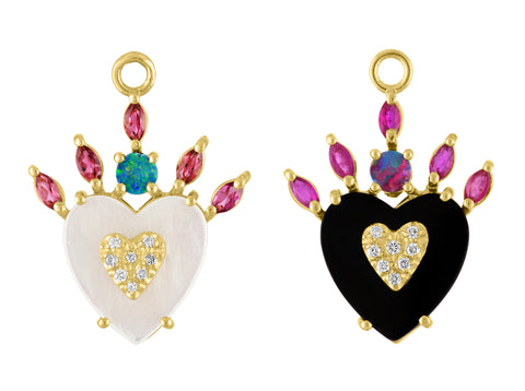 Queen of Hearts Earrings or Pendant