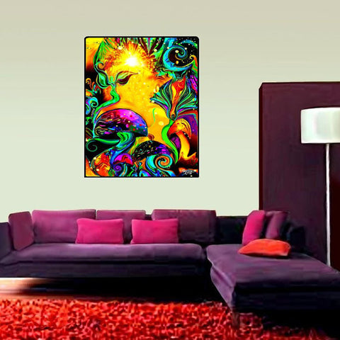 "Huge Wall Hanging, Meditation Room Decor, Chakra Art, ""Waking Life"""