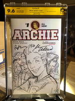 Archie #1 9.6 NM Blank Sketch Signed 3x