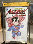 Action Comics #1000 9.4 NM, Sketched and Signed Cat Farris