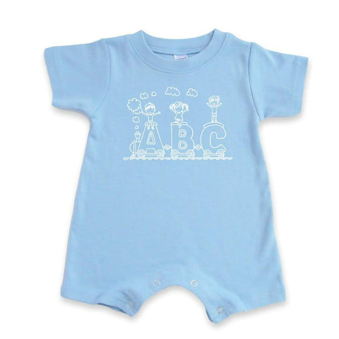 ABC Train Short Sleeve Infant Romper
