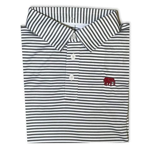 Elephant Charcoal Striped Polo