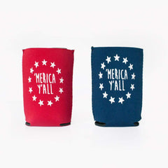 'Merica Y'all Neoprene Koozie - Honey Bee Tees - 1