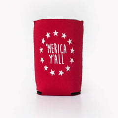 'Merica Y'all Neoprene Koozie - Honey Bee Tees - 2