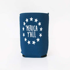 'Merica Y'all Neoprene Koozie - Honey Bee Tees - 3