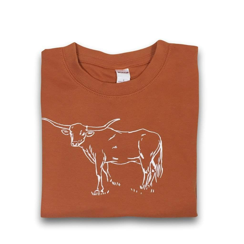 Longhorn Short Sleeve Tee - Honey Bee Tees - 1