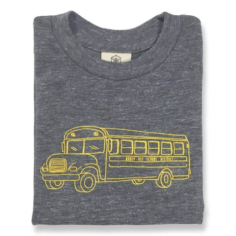 School Bus Grey Short Sleeve Tee