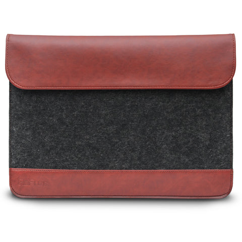 GoFree Felt Sleeve Case for MacBook 12in / MacBook Pro 13in / MacBook Air 13in  (Charcoal Grey / Caramel Brown)