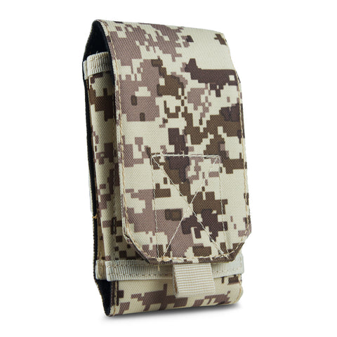 Tactical Phone Pouch Sleeve Case – GoFree Tactical Case [ With Belt Loop ] – Up to 6.2 inch Phone (Desert Camouflage)