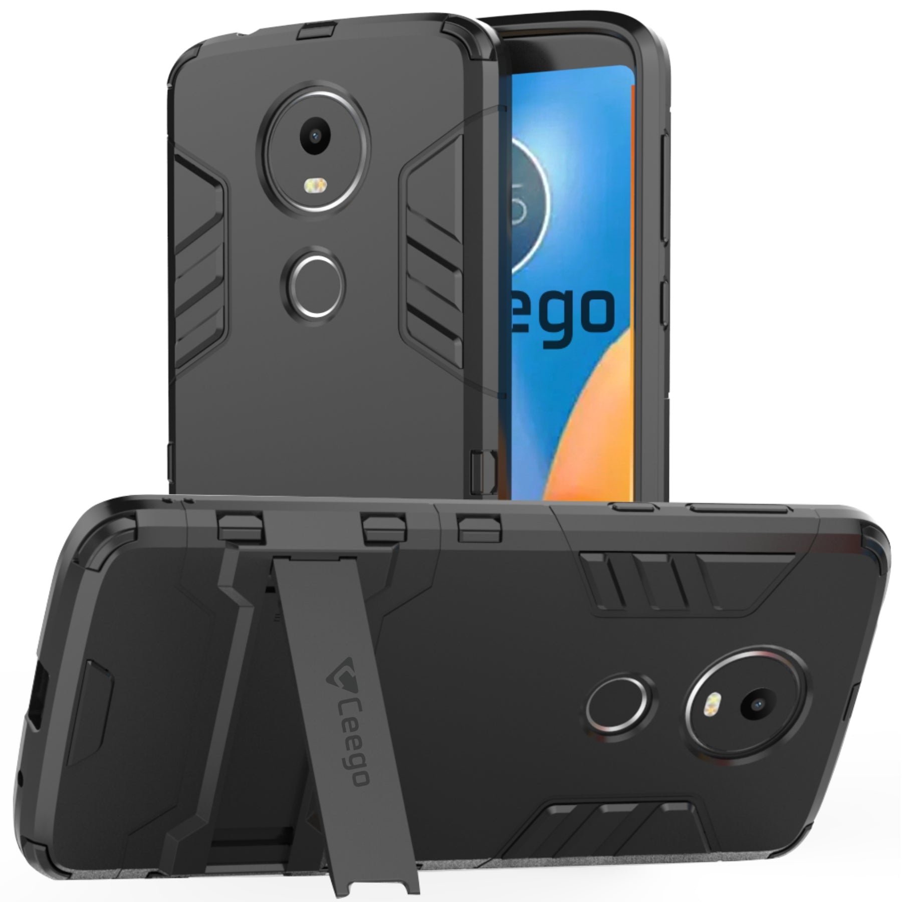 Ceego Stealth Defence Back Case for Moto E5 Plus  – Matte Black