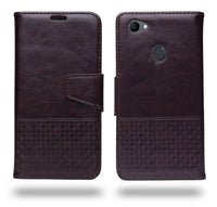 Ceego Luxuria Flip Cover for Oppo F7 - Chestnut Brown