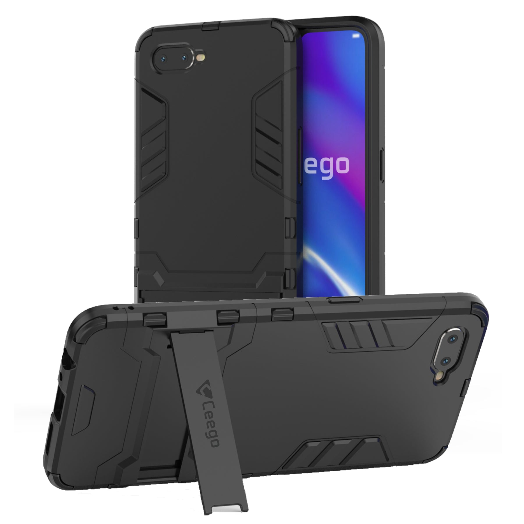 Ceego Stealth Defence Back Case for Oppo K1 – Matte Black