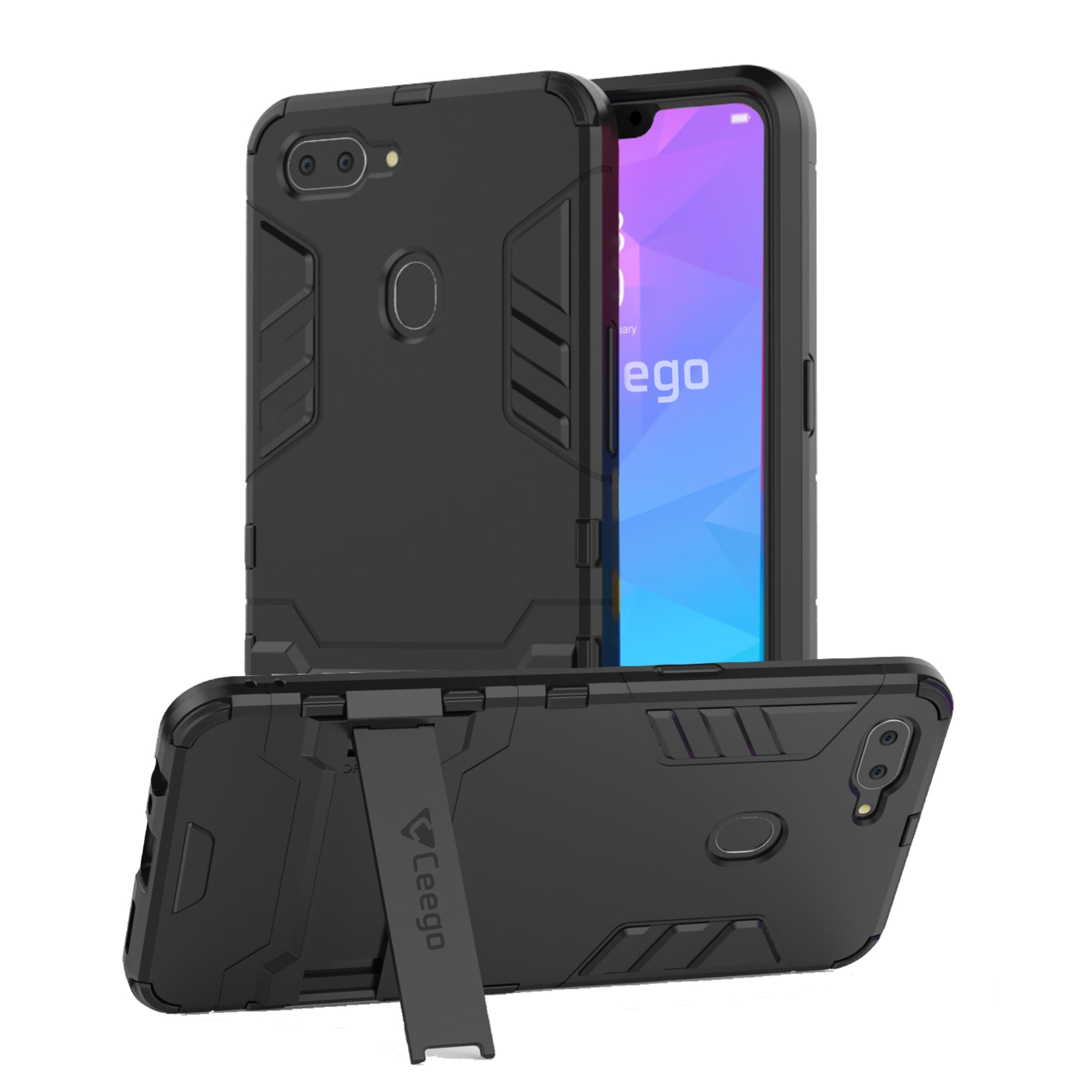 Ceego Stealth Defence Back Case for RealMe 2 – Matte Black