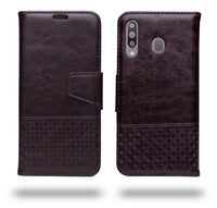 Ceego Luxuria Wallet Flip Cover for Samsung Galaxy M30 (Chestnut Brown)