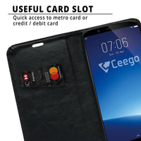 Ceego Flip Cover for Vivo Y71  (Black)
