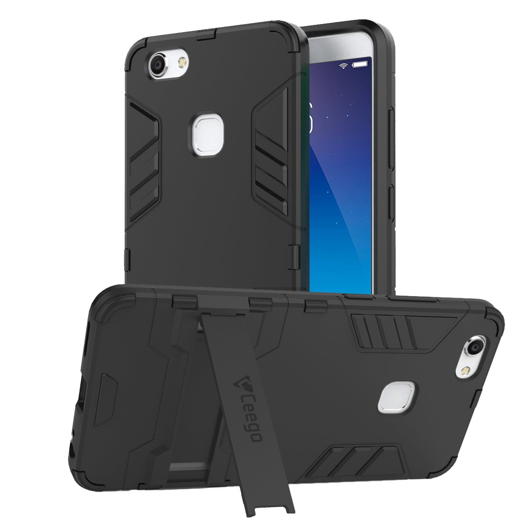 Ceego Stealth Defence Back Case for Vivo Z10  – Matte Black