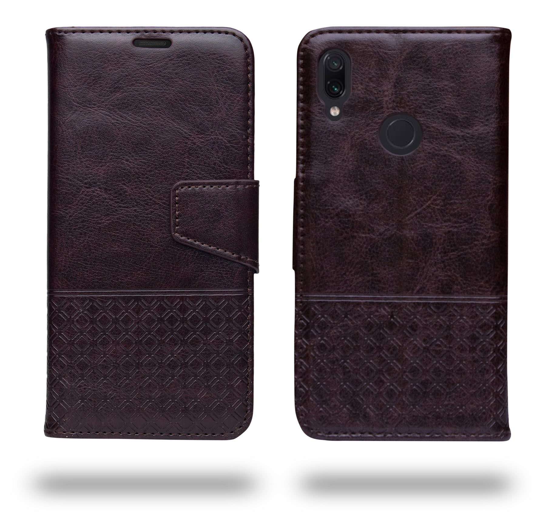 Ceego Luxuria Wallet Flip Cover for Xiaomi Redmi Note 7 / Redmi Note 7 Pro / Redmi Note 7s  (Chestnut brown)