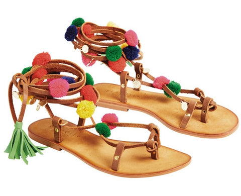 I love these colorful sandals- Perfect for the holiday beach getaway
