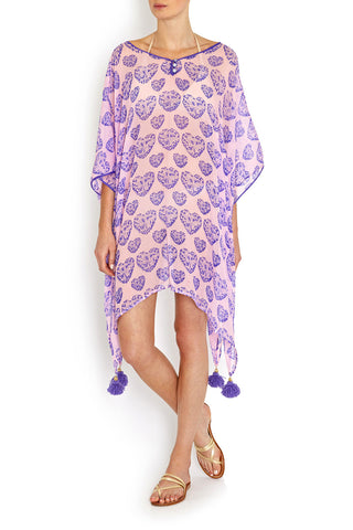 Butterfly Kaftan in SILK , Kaftan - BEACH CANDY, alimitlessworld  - 1