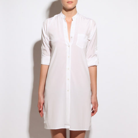 BY JEMMA SHIRT JULIA IN WHITE SILK , Shirt - MY JEMMA, alimitlessworld  - 1