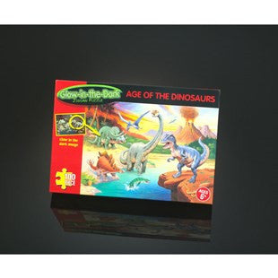 Age Of The Dinosaur 100 Piece Glow in the Dark Jigsaw Puzzle
