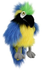 Baby Blue and Gold Macaw Puppet by Puppet Company