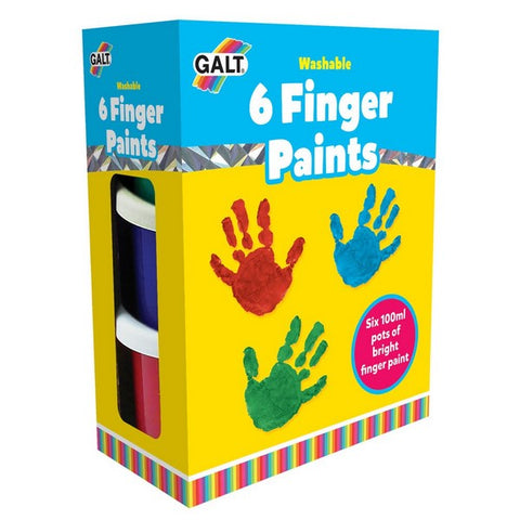Children's Paint Pots - Galt 6 Finger Paints