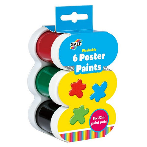 Children's Paint Pots - Galt 6 Poster Paints