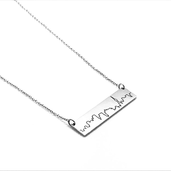 Toronto Skyline Necklace- Silver Plated