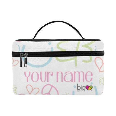 Personalized Rectangular Lunch Bag Pastel Logo Pattern - Biglove