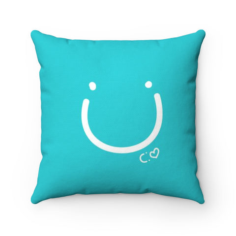 Biglove Happiness Spun Polyester Square Pillow - Biglove