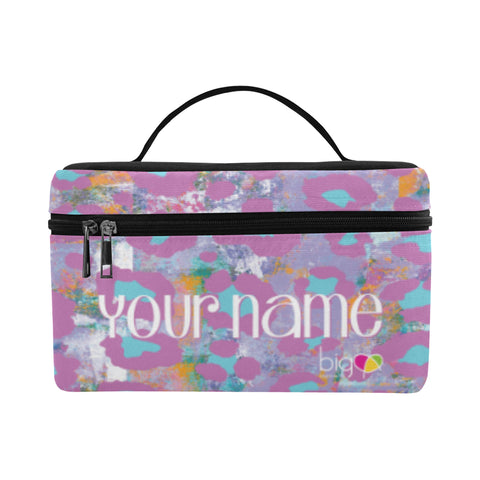 Personalized Rectangular Lunch Bag Light Purple Animal Print - Biglove
