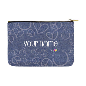 Personalized Large Carry-All Pouch 12.5''x8.5'' Denim - Biglove