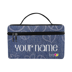 Personalized Rectangular Lunch Bag Denim - Biglove