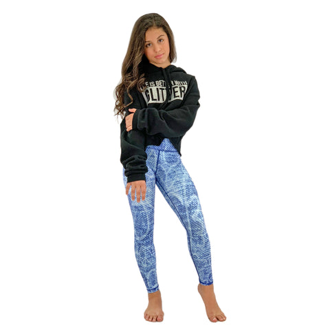 Girls Denim Leggings - Biglove