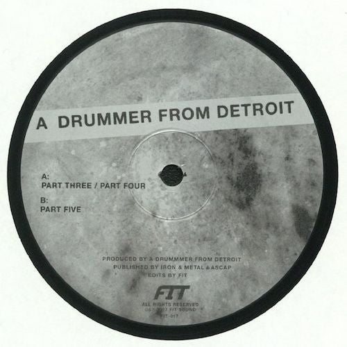 "A Drummer From Detroit - Drums #2 - 12"" - Fit Sound - FIT-017"