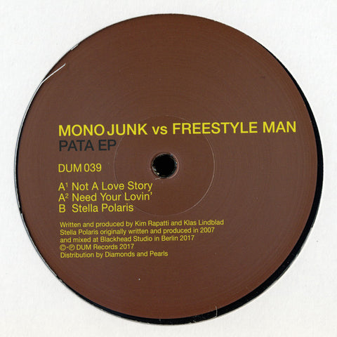 "Mono Junk vs Freestyle Man - Pata EP - 12"" - Dum Records - DUM 039"