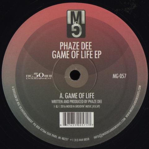 "Phaze Dee - Game of Life EP - 12"" - Moods & Grooves - MG-057"