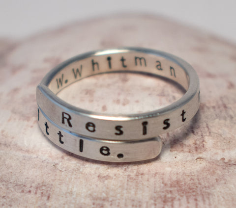 """Resist much. Obey little."" Ring"