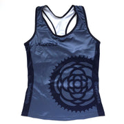 Basic Navy Women's Cycling Tank Front