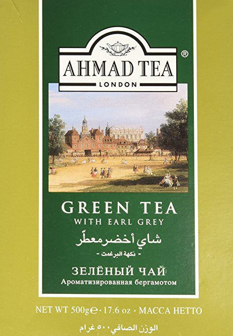 Ahmad Green Tea with Earl Grey Loose 17.6OZ