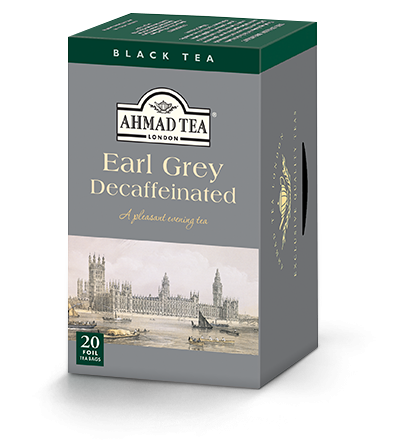 Ahmad Decaffeinated Earl Grey Black Tea 20 Tea Bags