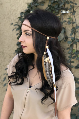 Feather Headband #B1072