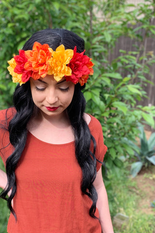 Fall Flower Headband #C1115