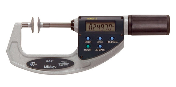 369-421-20 Mitutoyo Disc Micrometer Non-Rotating Spindle 0-1.2