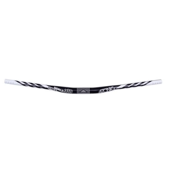 Azonic World Force Riser Bar - Black/White | 31.8mm | .7 (18mm) | 30.7 (780mm) | 3/9 Deg - Handlebars