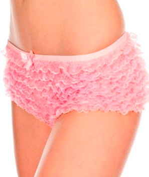 Mesh Ruffled Lace Tanga Shorts ML115 - Wicked Rockabilly & Gifts - 4
