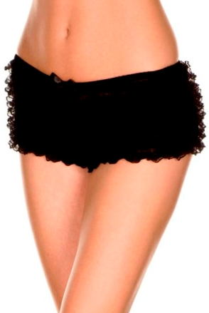 Mesh Ruffled Lace Tanga Shorts ML115 - Wicked Rockabilly & Gifts - 1