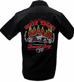 Deuce Day Embroidered Mens Work Shirt - Wicked Rockabilly & Gifts - 1